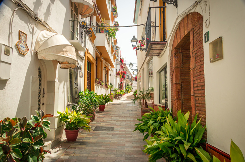 Streets of Marbella.